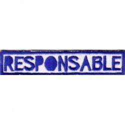 Insignia Tejida Responsable...